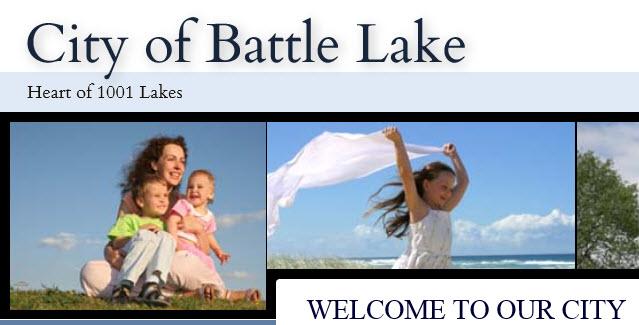 City of Battle Lake Logo